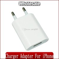 Wholesale Universal Adapter For Europe - 100% tested New EU Europe Travel Wall USB Charger Adapter For iPhone 4 5
