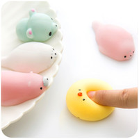Wholesale Squishy Bunny - Cute Soft Squishy toy Animal Silicone Toy Fidget Hand Squeeze Pinch Toy for Healing Stress Relieving Bear Bunny Rabbit
