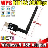 mini yönlendirici n toptan satış-Toptan-5dB Anten 300Mbps LAN Ağ LAN Kartı ile Mini USB Kablosuz wifi Adaptörü Masaüstü Laptop 802.11b için Taşınabilir Mini Router / g / n