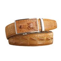 фирменные марки ремней оптовых-Wholesale- New 2017  Name Belts Men Cow Split Leather Embossed Male Belts Automatic Buckle All-match Belts For Man High Quality