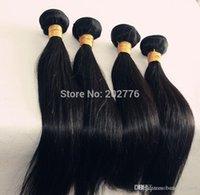 Wholesale Human Hair Extensions Mix Colour - 6A Grade Straight Human Hair Extensions Brazilian nature Hair 100% Unprocessed 4pcs lot Weaves Natural Colour Color Weft