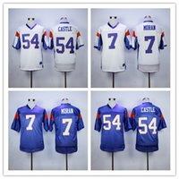 Wholesale Shirt Mountain - Fashion 7 Alex MORAN Jersey Blue White Mountain State Movie Jerseys 54 Kevin Thad CASTLE Men's 100% Embroidery Logos Sports Jersey Shirts