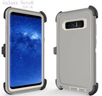 Wholesale Clear Hard Plastic Iphone Case - Robot Outdoor ShockProof Hard Plastic+Soft TPU Case With Clip Belt For Iphone X 7 6 6S Plus Galaxy Note 8 S8 S7 Defender Armor Combo Cover
