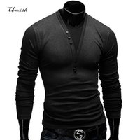 Wholesale Fitness Sweaters - Wholesale- top fashion 2015 men sweaters long eden park casual pullovers v-neck long shirts, fitness blusa masculina, men's clothing