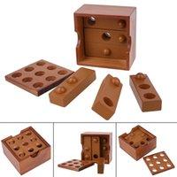 Wholesale Luban Block - Kongming Luban Lock Kids 3D Handmade Wooden Block Toy Adult Intellectual Brain Tease Game Kids Intelligence Development
