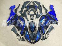 Wholesale Kawasaki 636 Plastics - 4Gifts New ABS fairings kit for Kawasaki ZX-6R 2007 2008 Ninja plastic ZX6R 07 08 636 ZX 6R zx636 motobike parts fairing kits blue Flame