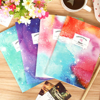 Wholesale New Romatic Color Dream Starry sky series Kraft paper K notebook journal Diary Office School Supplies