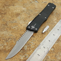 Wholesale Microtech Combat Troodon Drop Point - microtech custom Combat Troodon dual action drop point blade T6061 handle Pocket Knife Survival Knife Xmas gift for men 1pcs
