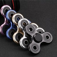 Wholesale Hot Selling Kids - Metal Fidget Spinner Hot Selling EDC Toys Triangular High Quality Profession ADHD Tri Spinner Cool Hand Spinner