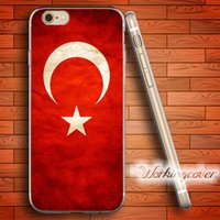 Wholesale Iphone Flags - Fundas Turkey Flag Soft Clear TPU Case for iPhone 7 6 6S Plus 5S SE 5 5C 4S 4 Case Silicone Cover.