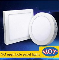 mejores luces de panel led al por mayor-led 6W 9w 12W 18W 24w 300 * 300 Lámparas de luz de panel Led Instalación de superficie redonda / cuadrada DownlightS AC 85-265V + Led mejor controlador