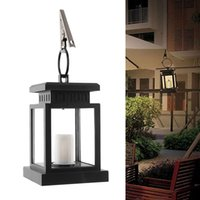 Wholesale Led House Lights Wholesale - Wholesale- Home House Outdoor Candle Lantern Ni-Cd Solar Powered Landscape Umbrella Lantern Hang Lamp LED Bulbs Light