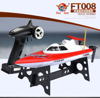 Wholesale rc toys racing boat - Wholesale- F16237 38 Feilun FT008 4CH 2.4GHz 27Mhz RTR RC Mini High Speed Boat Remote Control Racing Speed Electric Toys & Hobby