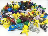 Wholesale Cutest Japanese Kids - 144pcs set Japanese Anime poke go Action Figures 2-3cm Mini Figurines Cute Pikachu Charmander Eevee PVC Figure Pop Pokeball Kids Toys DHL