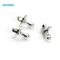 Wholesale Nipple Charms - Wholesale- 20pcs Tibetan Silver Plated Baby Nipple Teat Charms Pendants for Necklace Bracelet Jewelry Making DIY Handmade 13x9mm B319