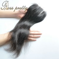 Wholesale Pretty Virgins - Ross Pretty Hair Lace Closure Virgin Human Hair Middle part and three part Brazilian virgin Hair Closures 4x4 Straight
