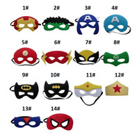 Cartoon Superhero Mask Cosplay Superman Spiderman Batman Hulk di Natale del partito dei capretti bambini Maschere costumi Eye sfera puntelli ZA1399