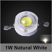 1w führte perlen großhandel-200 Stück LED-Chip Perlen 1W natürliche weiße Hochleistungs-LEDs 110 120 Lumen Lichtquelle für LED-Lampe Sun White 4000K 4500K 350mA 1W
