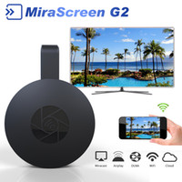 Wholesale Dvb C Usb - MiraScreen G2 Wireless HDMI Dongle TV Stick 2.4G WiFi 128Mb RAM DDR3 1080P Miracast For TV Projector Support Airplay DLNA Cloud +B