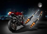 Wholesale Bike Blinker Light - Universal 2pcs 12V Motorcycle LED Turn Light Blinker Indicators Motor Bike Amber Light Corner Signal Lamp Super Bright Bulb