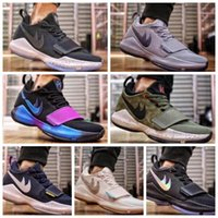 Wholesale Shining Pu Leather - Men Athletic Paul George PG 1 Flip the Switch Low Zoom Basketball Shoes Adult I Green Glacier Grey Ivory Ferocity Shining Oreo Sneakers
