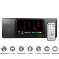 Wholesale Digital Clock Radios - Wholesale-5W Digital Radio FM Bluetooth Speaker with Remote Control Alarm Clock FM Stereo Receiver MP3 Player Portable Radio Y4369A