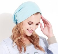 Wholesale Maternity Korean - New Fashion Autumn Winter Women Hats Korean Pullover Package Head Confinement Woman Caps Cotton Female Casual Skullies Beanies