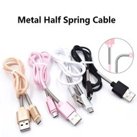 Wholesale Spring Steel Wire Wholesalers - Real 2A Fast Charging Cable 1M 3FT Metal Spring Steel TPE Micro USB Sync Data Wire For Android V8