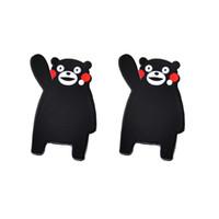 Wholesale Bear Jewelry Box - 30Pcs Kawaii Mascot Kumamoto Resin Planar Flat Back Cartoon Black Bear Cabochons Decoden Resin Craft DIY Jewelry GIFT Accessories