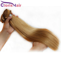 Wholesale cheap silky human hair weave online - Silky Straight Honey Blonde Human Hair Weave Bundles Cheap Peruvian Strawberry Blonde Weaving Hair Extensions Cloris Products