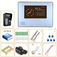 Wholesale Door Phone Dvr - 1000tvl DVR Video Door Phone Intercom System with fingerprint recognization function