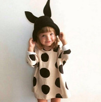 Wholesale Baby Boy Summer Dresses - Wholesale- SQ240 Ins * 2016 new cotton girl dress children summer dress baby fashion autumn top fabric girl clothes children clothing