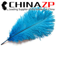 Wholesale Cheap Table Confetti - Leading Supplier CHINAZP Crafts Factory 25~30cm(10~12inch) Cheap Wholesale Fluffy Blue Ostrich Confetti Feathers for Table Decorations