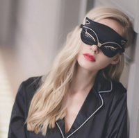 Cucommax Duplex Silk Sleeping Eye Mask Sexy Fox Eye Ombra Sleep Mask Black Mask Bandage sugli occhi per dormire