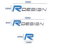 Wholesale Car Emblem R - Car styling R design logo metal emblem door Inner wrist sticker car door window decal 3D sticker for Volvo XC60 S60 V60 V40 S80