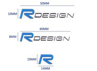 diseño de pegatinas de puerta de coche al por mayor-Etiqueta engomada interior de la muñeca del interior del logotipo del diseño del logotipo del diseño R del diseño de la puerta Etiqueta de la puerta / de la ventana del coche etiqueta engomada 3D para Volvo XC60 S60 V60 V40 S80