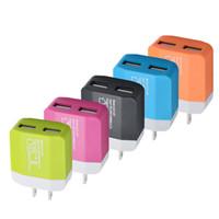 двойная док-станция для iphone оптовых-5 В 1.2A Dual USB США ЕС Plug Зарядное Устройство Дома Адаптер Питания Путешествия Для IPHONE SAMSUNG Телефон Android DHL бесплатная доставка CAB224