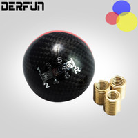 Wholesale Automatic Shift - Carbon Fiber MUGEN Gear Shift Knob 6Speed Manual Automatic Spherical 6S Shift Knob