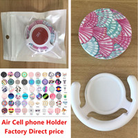 Wholesale Grip Bag Holder - Universal Cell Phone Holder Air bag with clip Real 3M glue Expandable Grip Stand 360 Degree Finger Holder for phone with PE bag