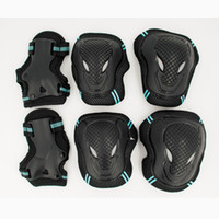 Wholesale Adults Ice Skates - Wholesale- HOT 6pcs set Skating Protective Gear Set Elbow pads Bicycle Skateboard Ice Skating Roller Knee Protector For Adult Kids Gift