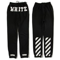 Wholesale C Pants - Wholesale-2016 fashion OFF-WHITE c o Virgil Abloh black Jogger Sweatpants Sweat pants Pyrex Version trousers