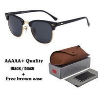 Wholesale vintage goggles glasses for sale - High quality Glass Lens Brand Designer Fashion Men and Women Sunglasses UV400 Protection Sport Vintage Sun glasses With Brown box