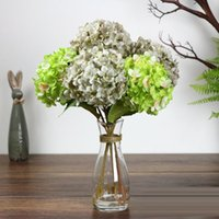Wholesale-Artificial Wholesale-Artifi Flower Fake Silk Single Hydrangeas Multi Couleurs pour Centerpieces de mariage Home Party Fleurs Décoratives