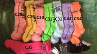 Wholesale Wholesale Colorful Knee High Socks - Factory wholesale Ladies Long Women Sock Stripey vs Stocking love Pink colorful dress Skateboard Stripe Over Harajuku The Knee High Socks