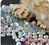 кристаллические камни для украшения оптовых-Crystal AB SS6 Nail Art Rhinestones Crystal Rhinestones 3D Nail Art Decoration Jewelry Accessories Flat Back Stone
