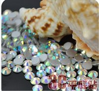 çivi sanatı 3d mücevher toptan satış-Kristal AB SS6 Nail Art Rhinestones Kristal Rhinestones 3D Nail Art Dekorasyon Takı Aksesuarları Düz Geri Taş