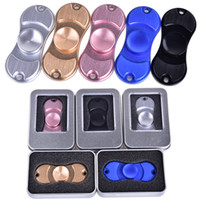 Wholesale Axis Rotation - hot sale Hand Spinner Toy Fidge Spinners golden Aluminum alloy Torqbar Ceramic Bearing axis EDC Finger Tip Rotation anxiety Toy OTH349