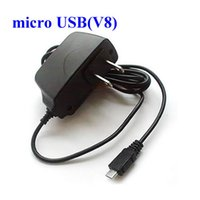 Wholesale Usb Ac Wall Black - Black US Plug Home Wall Charger for Samsung HTC LG V8 V9 Android Micro USB AC Power Adapter