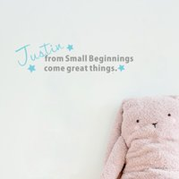Wholesale Small Flowers Wall Sticker - Personalized Baby Name DIY Flowers Atars Removable Vinyl Wall Decal for Kids Room Decoration