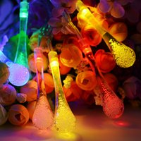Wholesale Fairy Fence - 30 led Solar Christmas Light Outdoor String Lights Waterproof LED Water Drop Fairy String Lighting 8 Modes for Garden Patio Lawn Fence